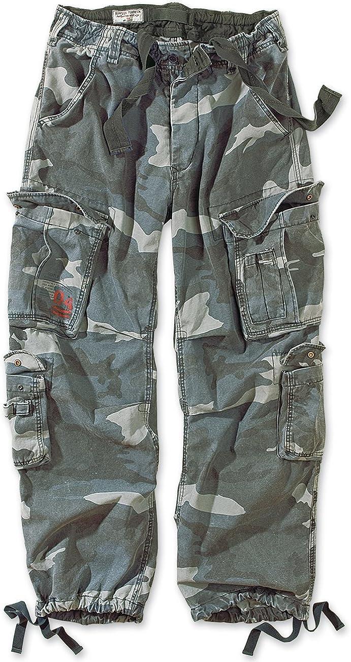 Surplus Airborne Vintage Mens Cargo Trousers Nightcamo