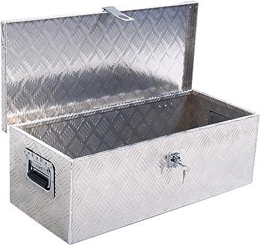 Yaheetech 30 x 13 inch Heavy Duty Aluminum Tool Box Pickup Truck Bed Storage w//Lock Silver Renewed