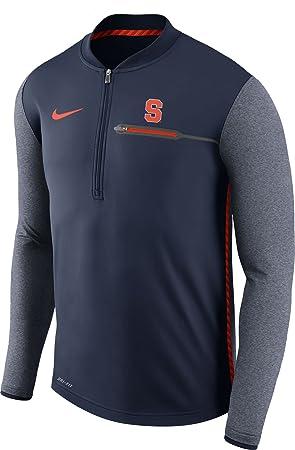 Nike Hombre Syracuse Naranja Azul Entrenador Chaqueta de Media Cremallera diseño de fútbol: Amazon.es: Deportes y aire libre