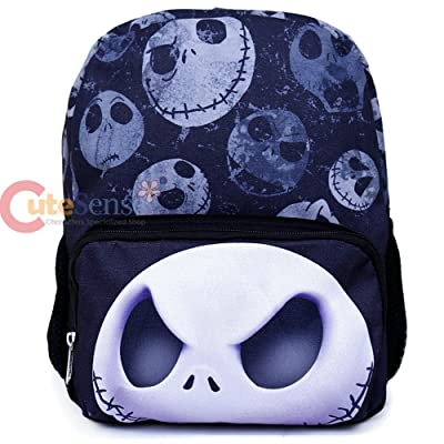 Nightmare Before Christmas 12in Backpack Jack Face All Over Small NBC Bag | Kids' Backpacks