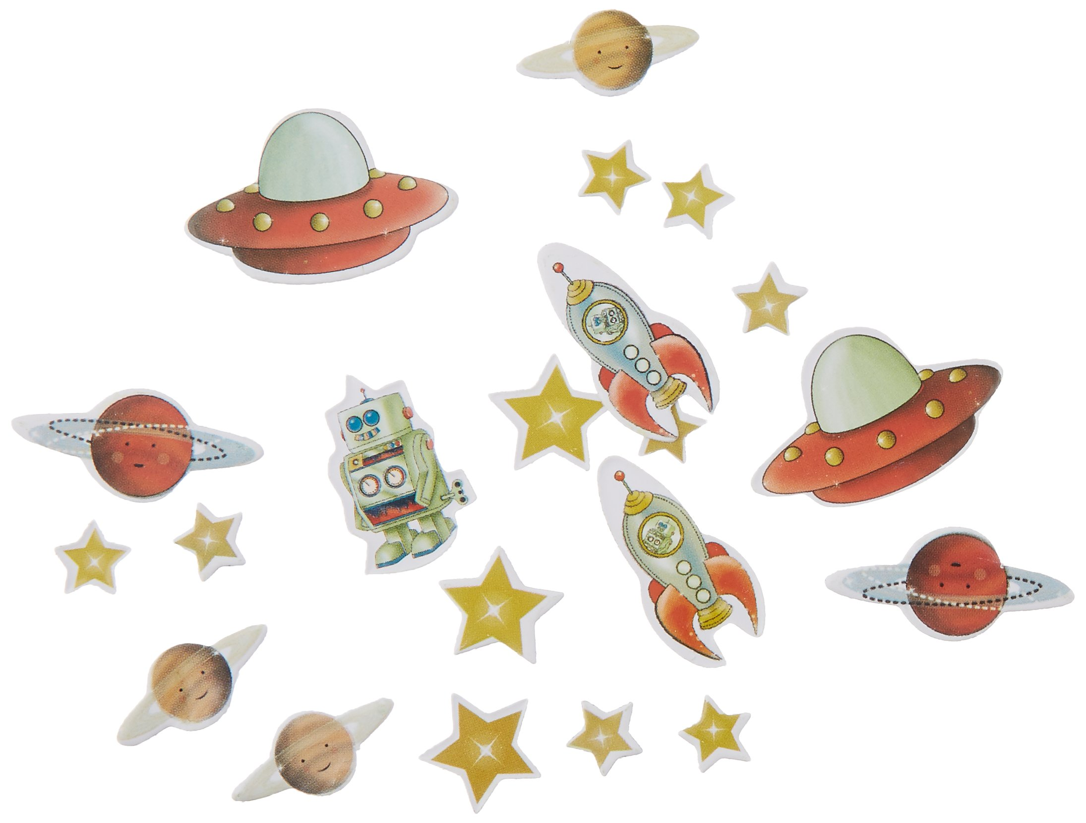Ginger Ray Space Adventure Spaceship Robot Paper Kids Party Cups Mixed
