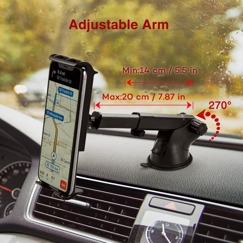 PaiTree Car Phone holder 3 in 1 phone holder for car windscreen Dashboard Air Vent Super Strong Suction Mobile Phone Holders for Cars Compatible with Galaxy S10+//S10e//S10//S9//iPhone Xs Max//XS//XR//X//8P