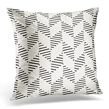 Amazon Golee Throw Pillow Cover Black Brush Abstract Striped Interesting How To Clean Pillow Covers