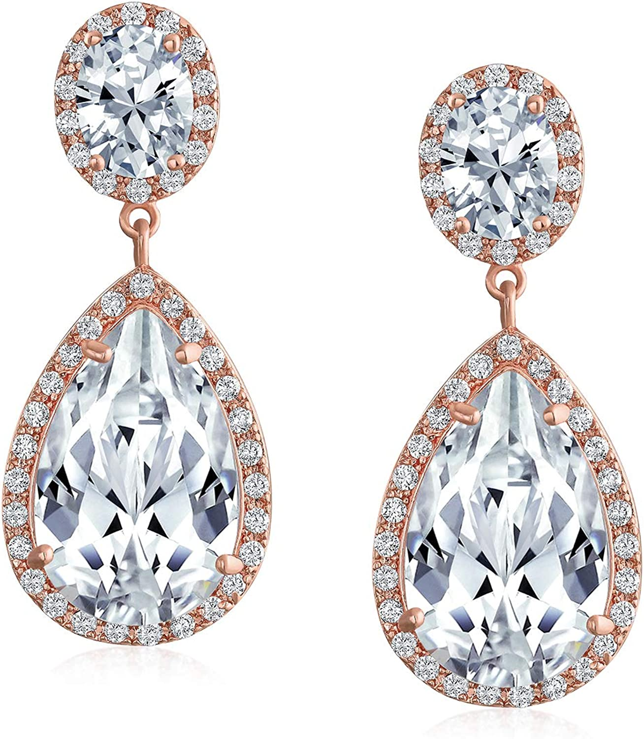 CZ Crystal Statement Earrings Large