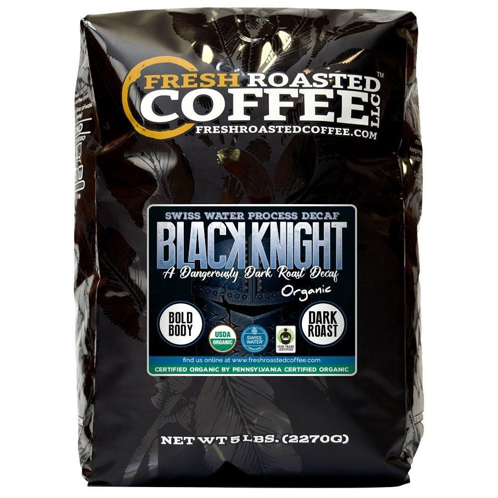 Black Knight Decaf Organic Fair Trade Coffee, Whole Bean, Water Decaf, Fresh Roasted Coffee LLC. (5 LB) by Fresh Roasted Coffee (Image #1)