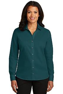 865e5ae7 Red House Women's Non-Iron Diamond Dobby Shirt RH77 at Amazon ...