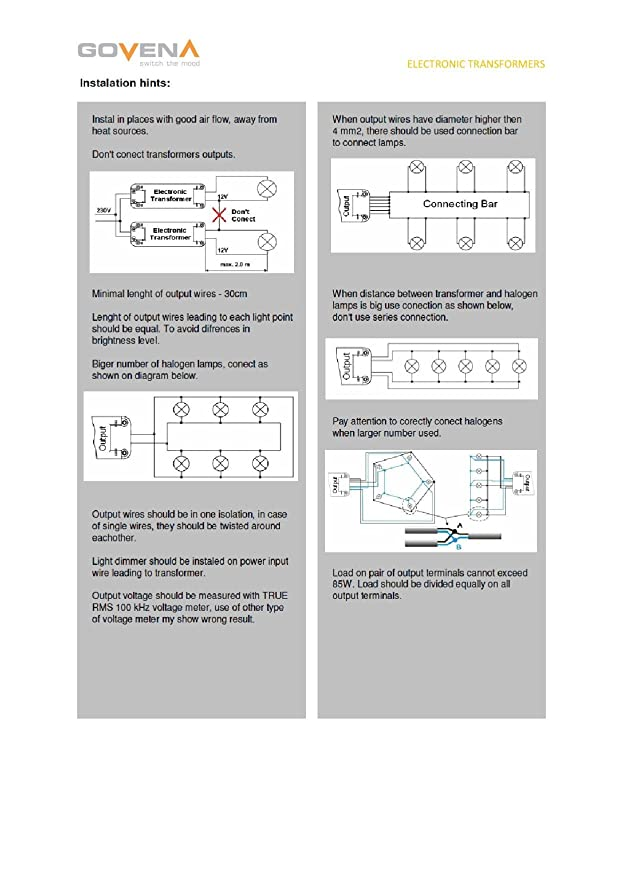 0W - 70W Dimmable Electronic Transformer YT70 - low voltage ... Halogen Transformer Wiring Diagram on