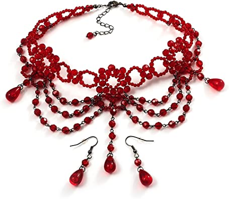 amazone bijoux fantaisie rouge