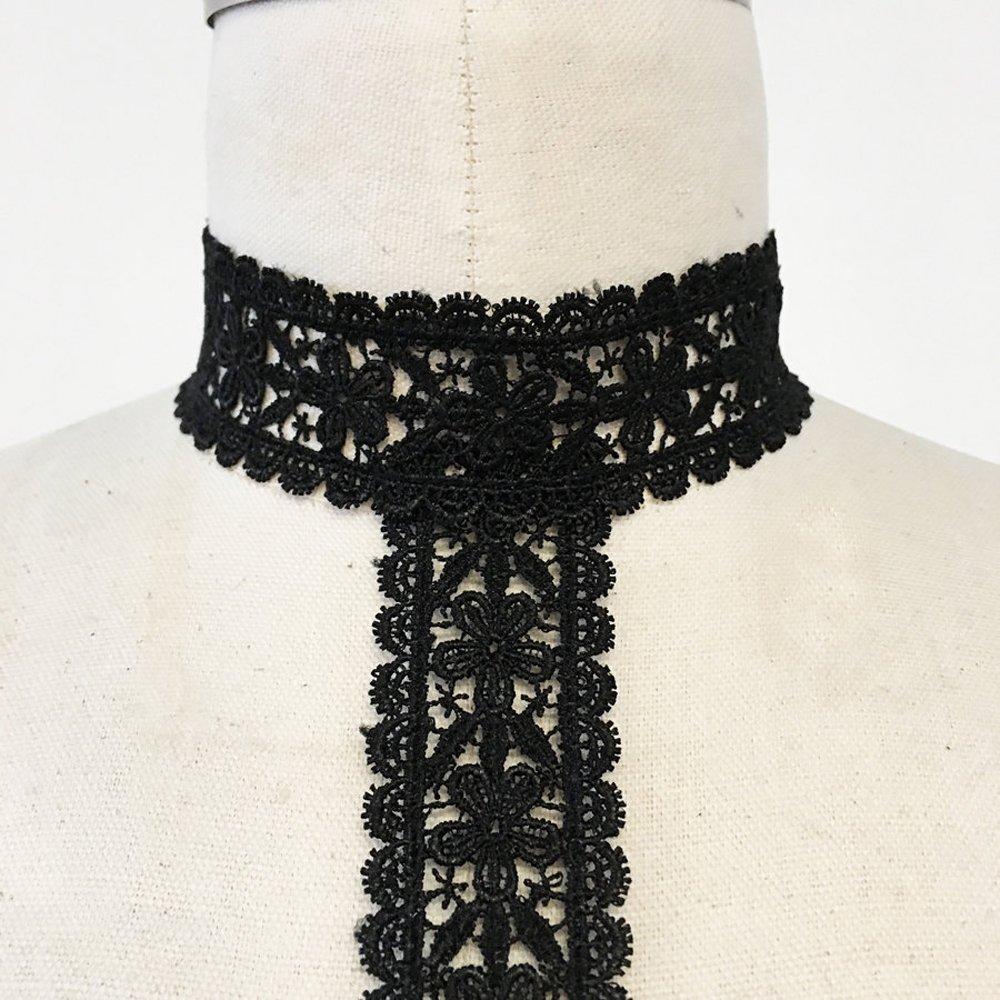 8088c00f4a6df Amazon.com  Black lace choker harness bralette  Jewelry
