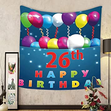 Amazoncom Gzhihine Custom tapestry 26th Birthday Decorations