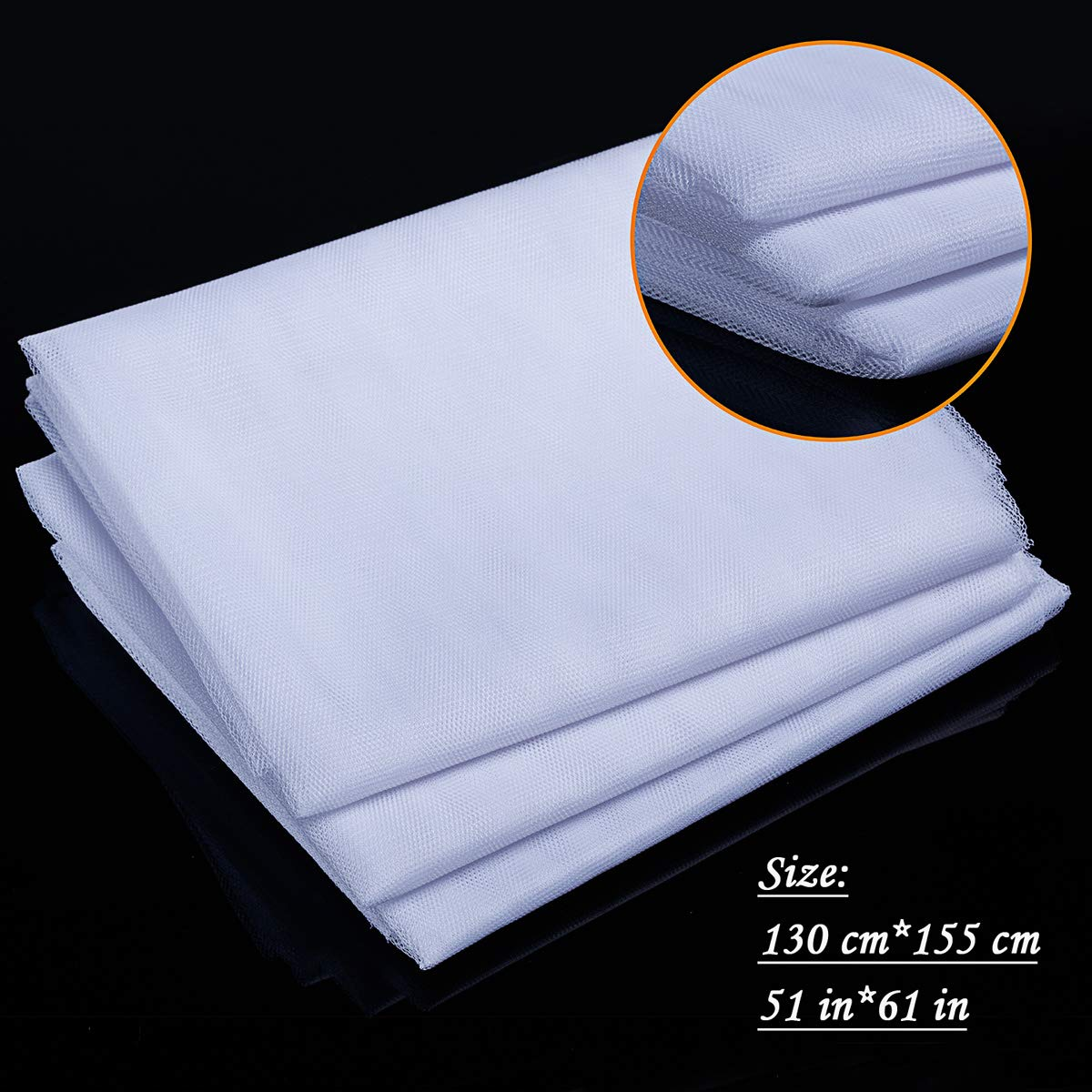 JIT-FUNG 3 paquetes, malla de insectos, mosquitera, protector de malla, 1,5 m x 1,3 m Kit de red de mosquitera para ventanas color blanco