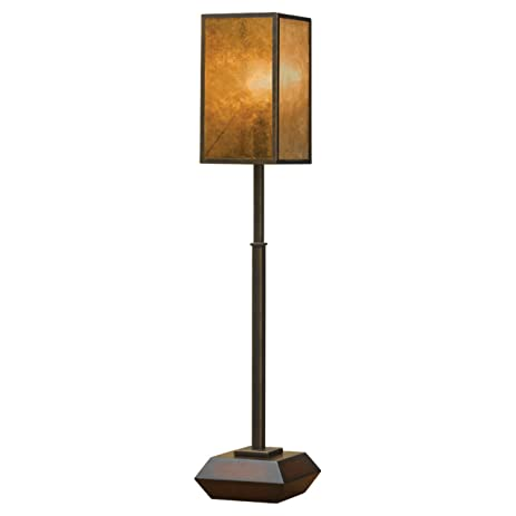 Murray feiss 9831mhg glb lloyd buffet lamp mahogany finish with mica silk shade
