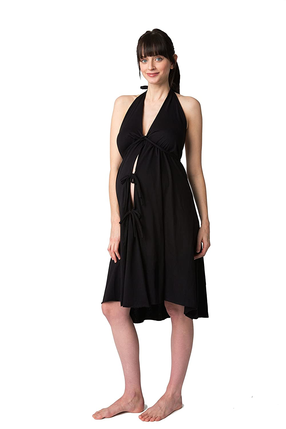 Pretty Pushers Cotton Jersey Labor Gown at Amazon Women\'s Clothing ...
