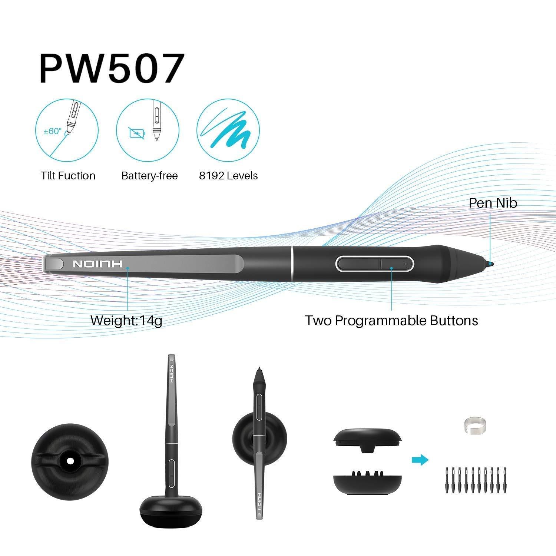 KP-504E 5pcs WACOM ACK-222-03-ZX Refills Felt Core for WACOM Pro Pen 2 -Nu