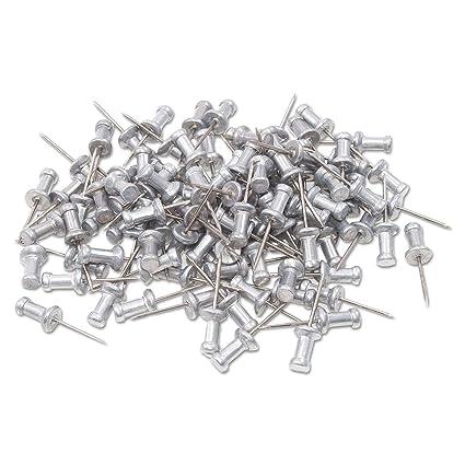 amazon com aluminum head push pins steel 5 8 point silver 100