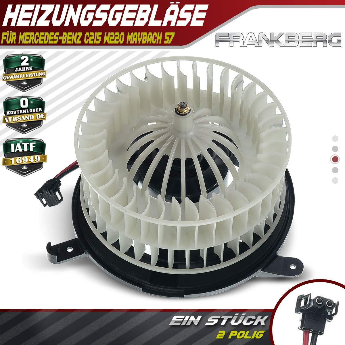 Innenraumgebl/äse Heizungsgebl/äse Motor f/ür S-Klasse W220 C215 1998-2006 2208203142