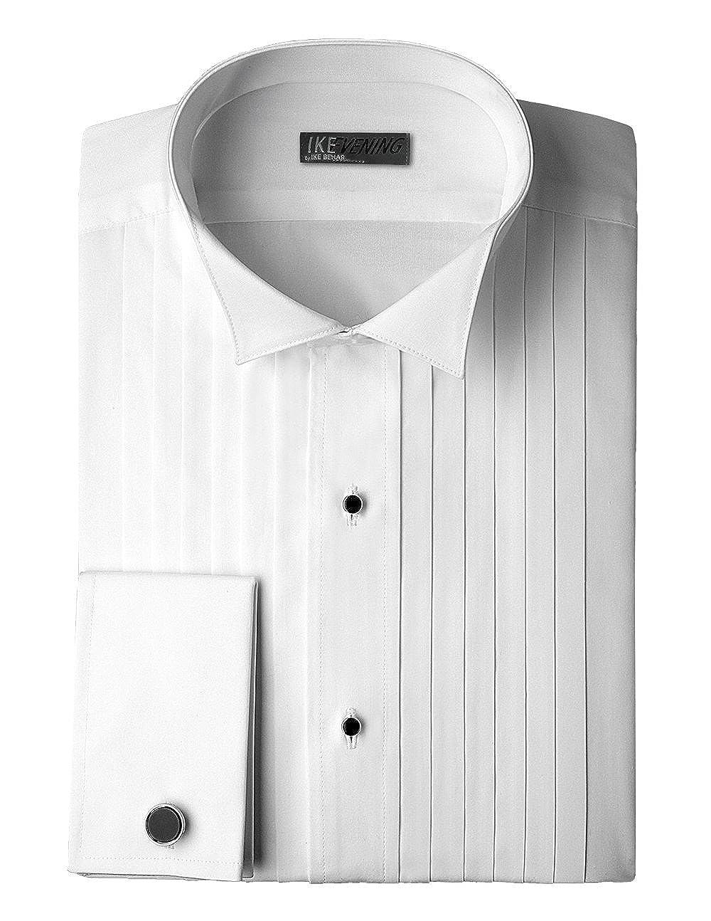 Ike Behar 100% Woven Cotton Tuxedo Shirt with French Cuffs