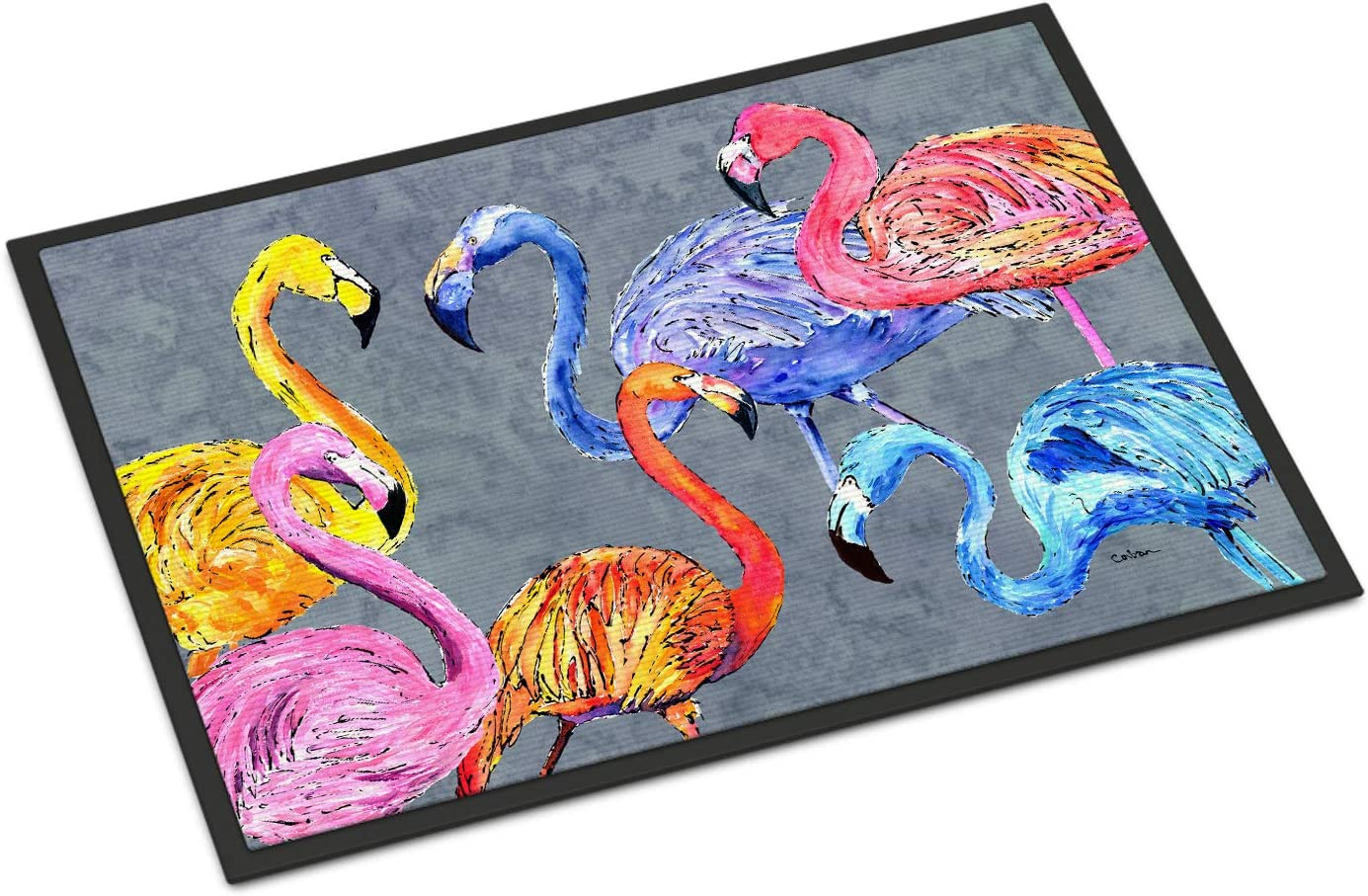 Caroline s Treasures 8871JMAT Flamingo Six Senses Indoor or Outdoor Mat 24×36 Doormat, 24H X 36W, Multicolor