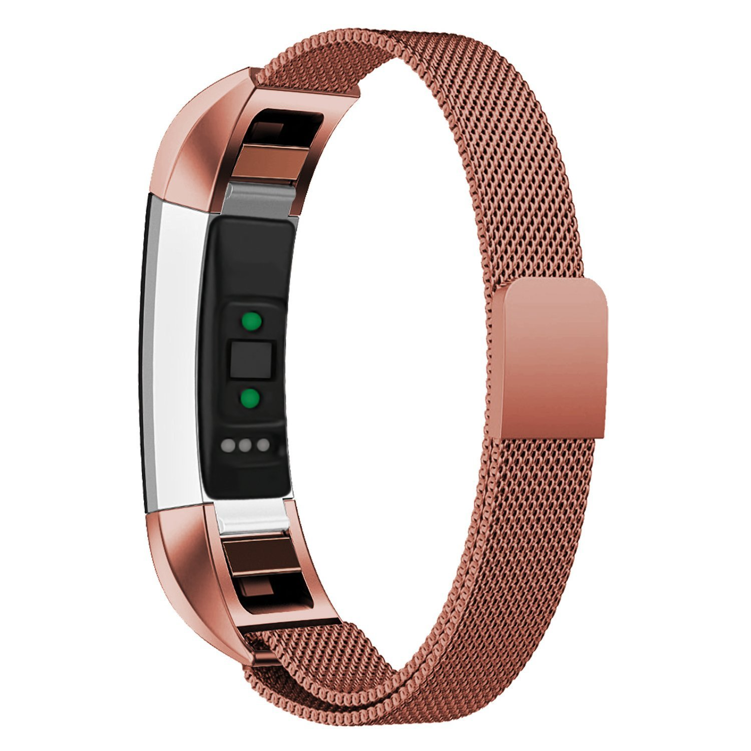 Fitbit Alta HR and Alta Bands,Milanese Loop Stainless Steel Metal Replacement Accessories Band for Fitbit Alta HR and Fitbit Alta 5.5-9 Inch Wrist Sliver Black Rose Gold Blue Pink Coffee Velospark