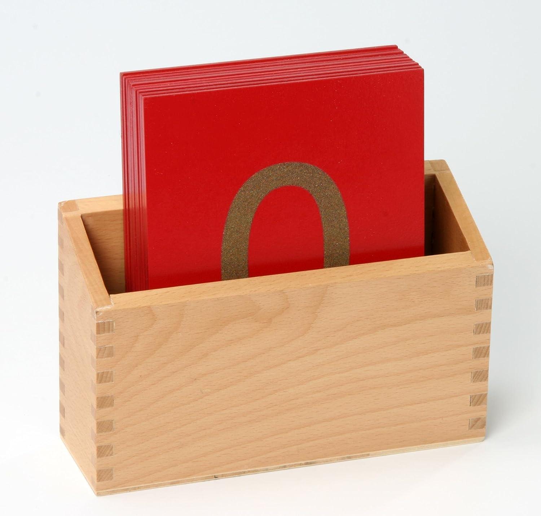 Betzold Montessori-Material Sandpapier-Ziffern im Holzkasten, 10 ...