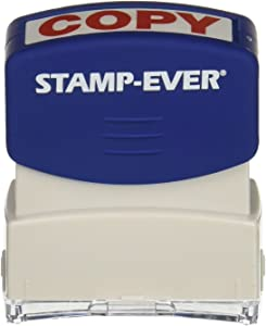 Stamp-Ever Pre-Inked Message Stamp, Copy, Stamp Impression Size: 9/16 x 1-11/16 Inches, Red (5946)
