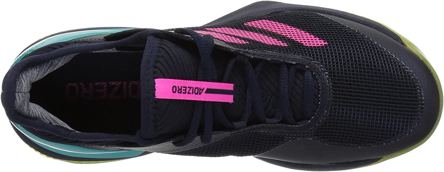adidas Women's Adizero Ubersonic 3 Clay Legend Ink/Shock Pink/Hi-res Aqua