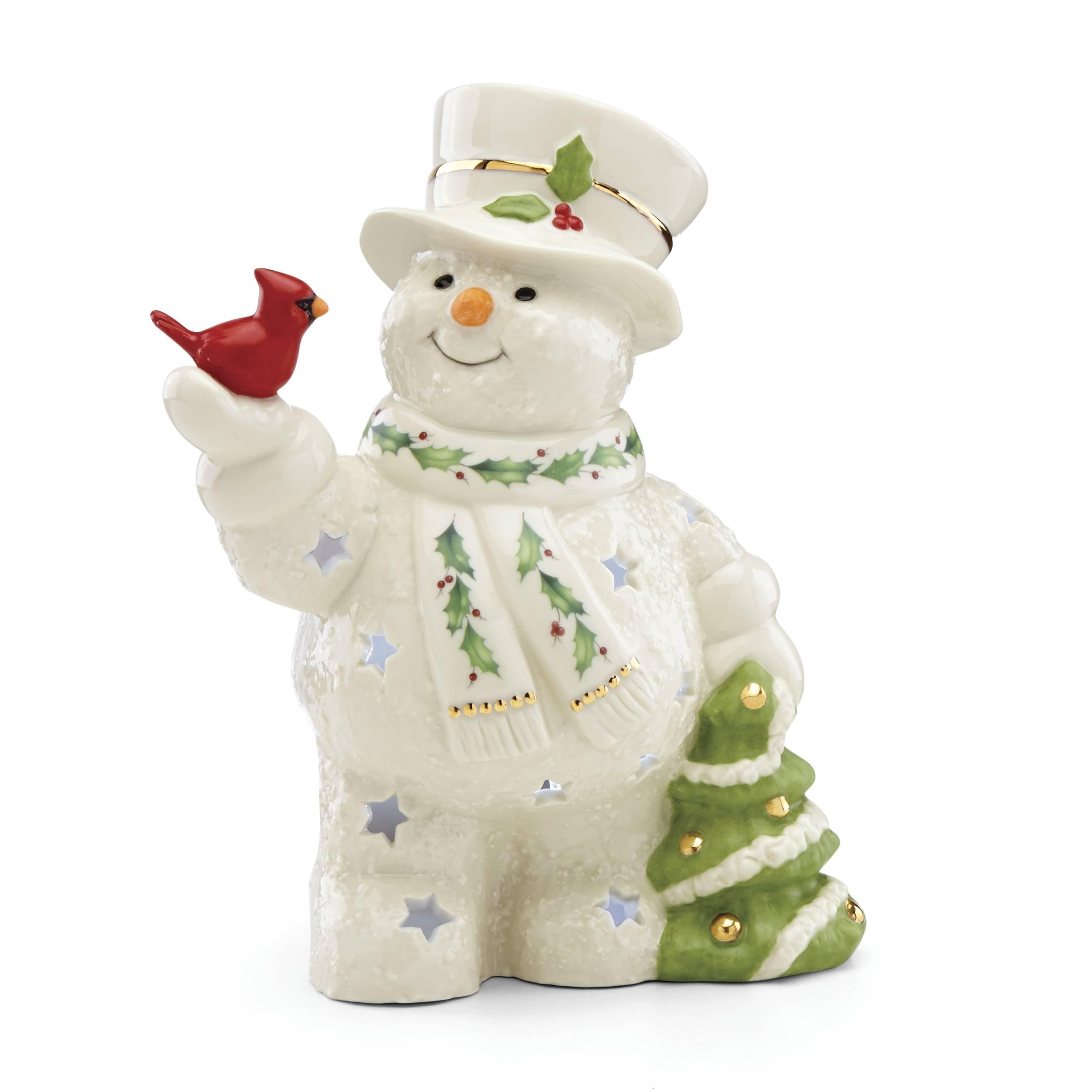 Lenox Happy Holly Days Snowman Lit Figurine