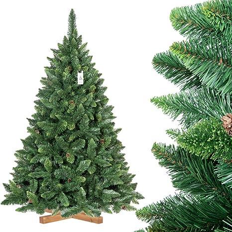 FairyTrees Árbol de Navidad Artificial Pino, Natural Verde ...