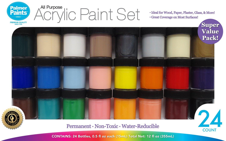 Palmer Paints Palmer Prism Acrylic Paint Set 1/2oz 24 Jar 24ct