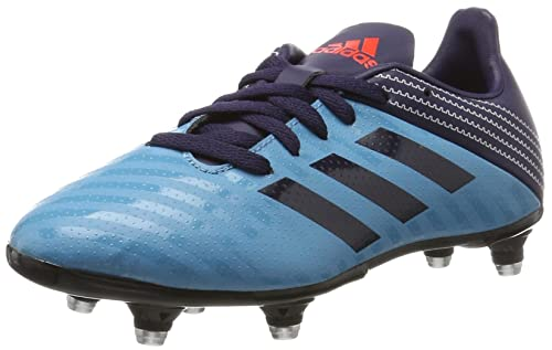 adidas Malice Junior SG, Scarpe da Rugby Bambino, (Tactile Steel/Noble Ink