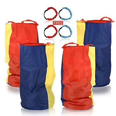 "Sumapner Potato Sack Race Bags 34"" Hx20 W(Pack of 4) with Three-Legged Race Outdoor Activities for Family Gatherings Games: Toys & Games [5Bkhe0505713]"