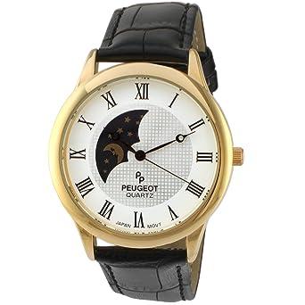 Amazon.com: Peugeot - Reloj de pulsera para hombre, chapado ...