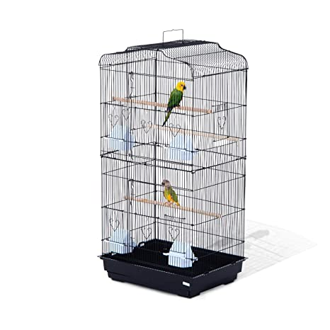 Pawhut Jaula para Pájaros Pajarera para Pájaro Loro Canario ...