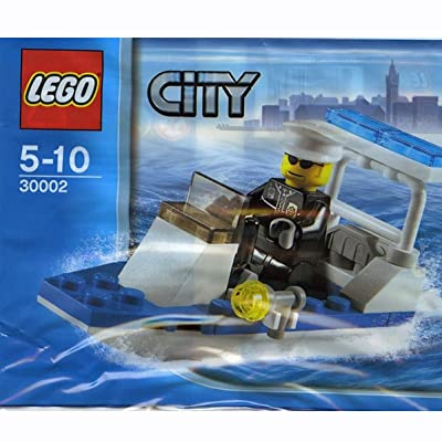 Lego City Police Boat 30-Piece Construction Toy #30002: Toys & Games