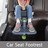 [KneeGuardKids3] Car Seat Footrest, Booster Seat Footrest (Grey)