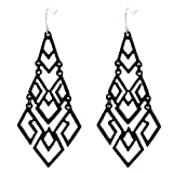Amazon Price History for:D EXCEED Women's Gold Cutout Diamond Chandelier Tiered Dangle Earrings, 3.15""