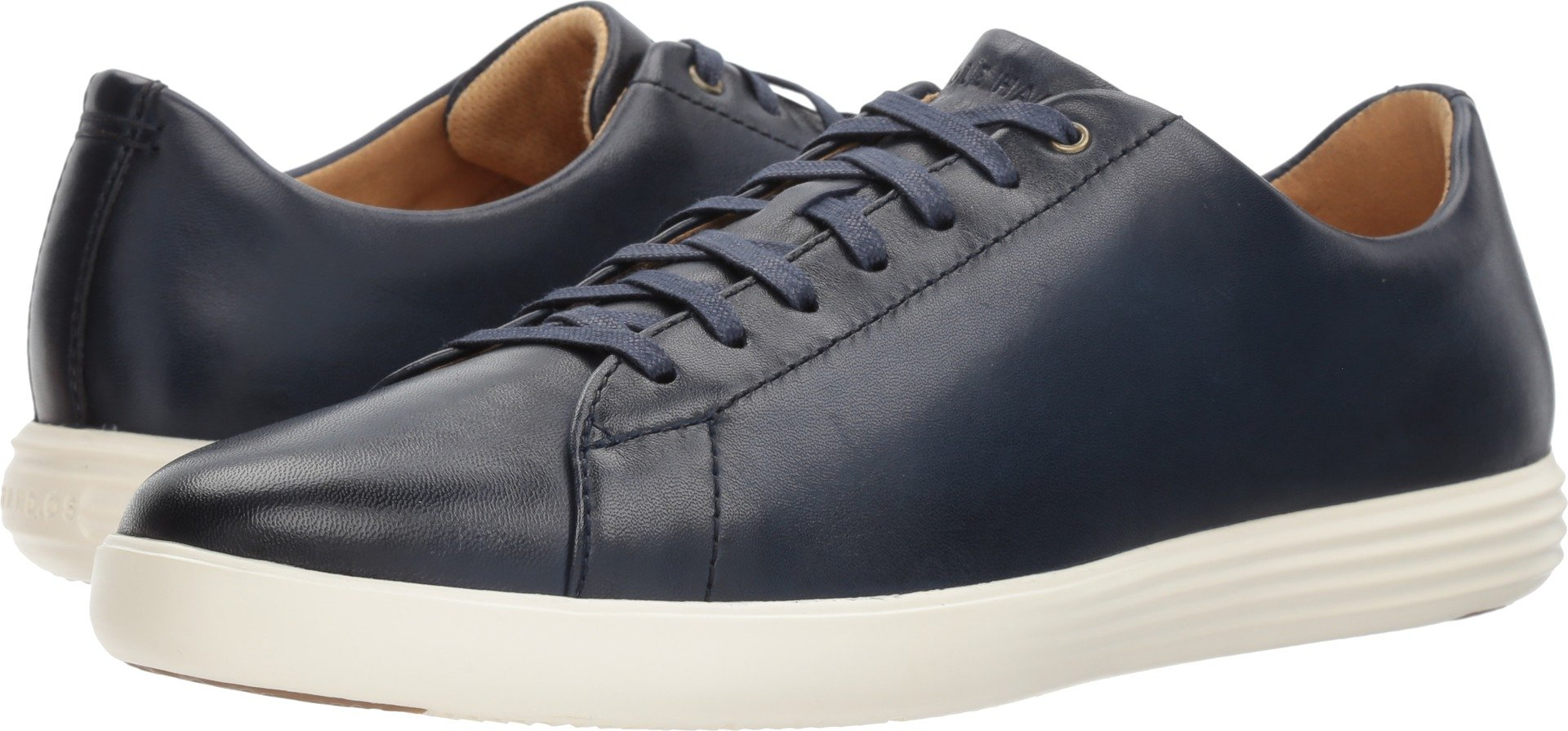 Cole Haan Mens Grand Crosscourt II Navy Leather Burnish 9 W - Wide