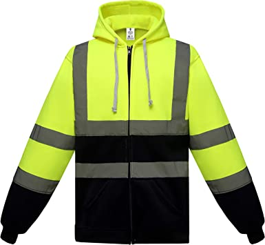Hi Vis Sweatshirt High Viz Visibility Vest Waistcoat Safety Work Jacket T-shirts