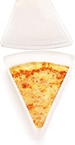 New York Pizza Slice Clear Plastic Containers - Microwaveable and Freezer Friendly, BPA-Free, Easy Open/Close lids, Fit Multiple NY Pizza Slices, Stackable Container w/lids -1 PK