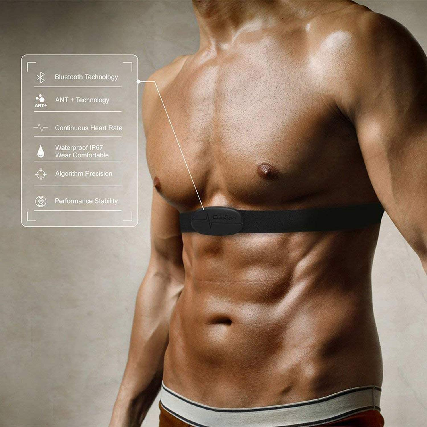 CooSpo Heart Rate Monitor Chest Strap