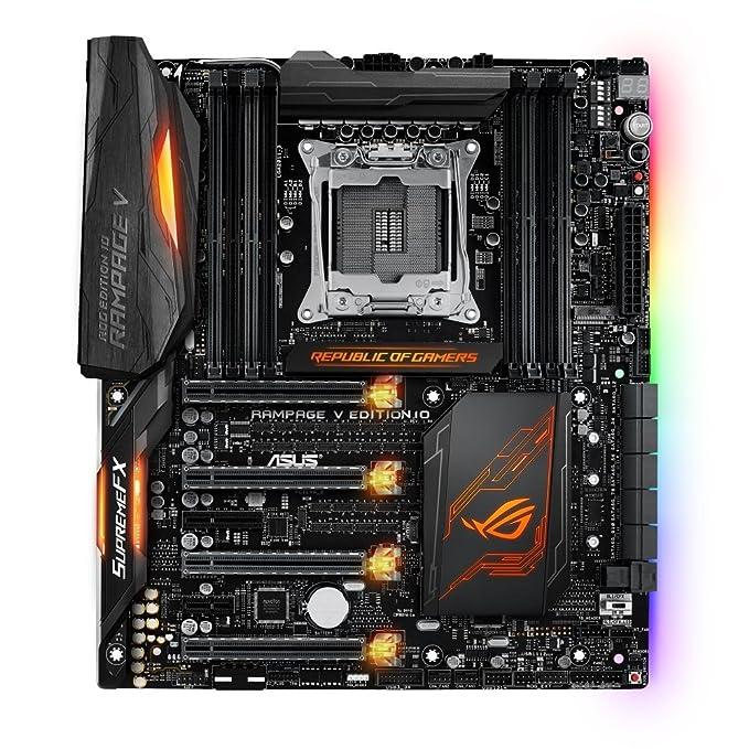 ASUS ROG Rampage V Edition 10 Intel X99 LGA 2011-v3 ATX extendida - Placa Base (DDR4-SDRAM, DIMM, 2133,2400,2666,2800,3000,3200,3300,3333 MHz, ...
