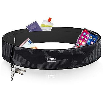 Formbelt Plus - Riñonera Deportiva, Cinturon Running Belt para Guardar Teléfonos Móviles iPhone X XS 8 7 9 Samsung S8 S9 + Llaves Botellas Jogging ...