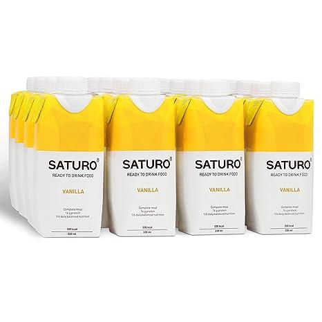 Saturo Vainilla - Batido sustitutivo de comida con Proteínas, Vitaminas y Minerales | Control de