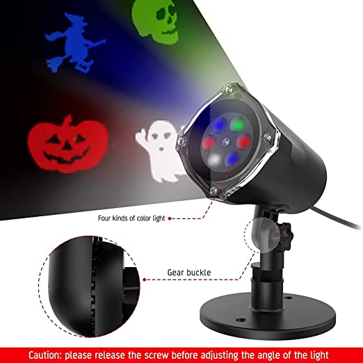 Amazon.com: Omew LED proyector luz, Halloween decoración ...
