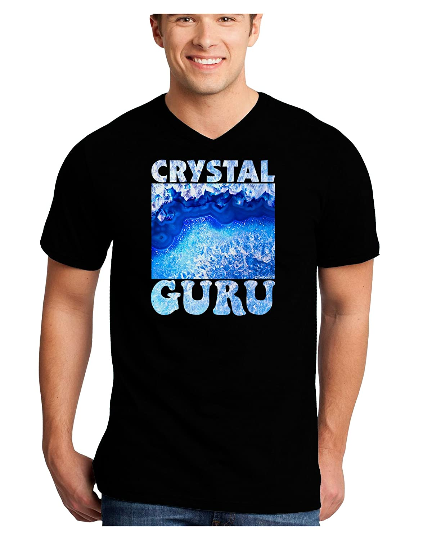 TooLoud Crystal Guru Adult Dark V-Neck T-Shirt