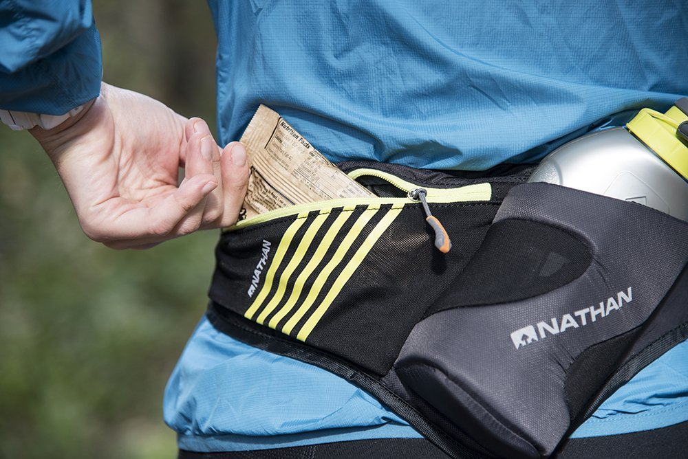 Nathan Peak Hydration Waist Pack with Storage Area & Run Flask 18oz – Running, Hiking, Camping, Cycling by Nathan (Image #5)