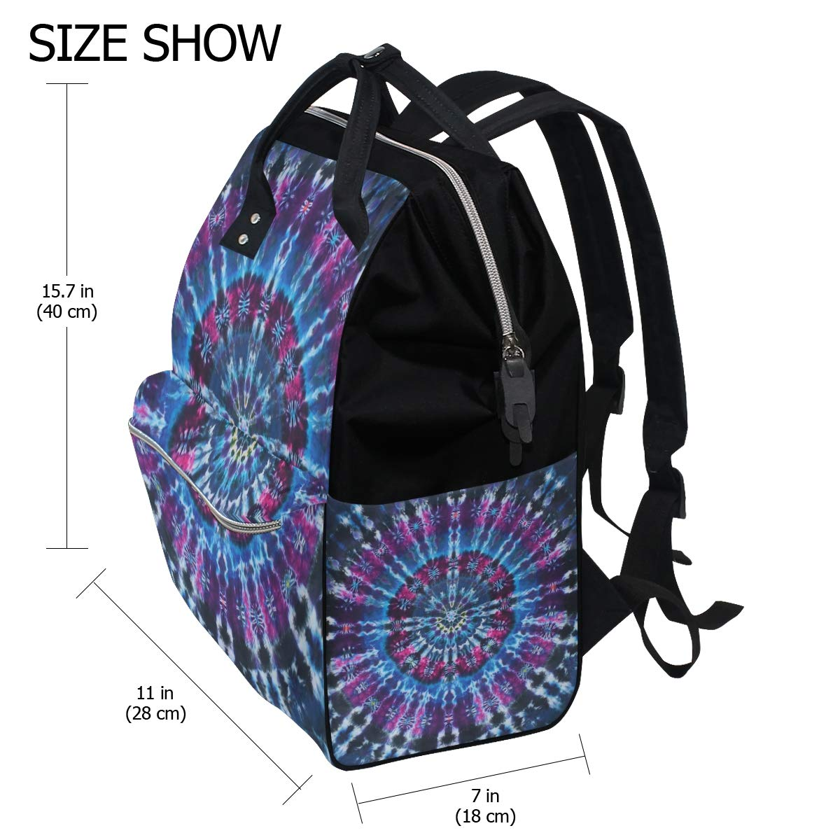 imobaby Cool Colorful Dye Tie Changing Bags Large Capacity Handbags Canvas Shoulder Bag Backpack