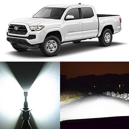 Alla Lighting 2x Super Bright White H4 9003 HB2 LED Headlight Bulbs for High Low Beam
