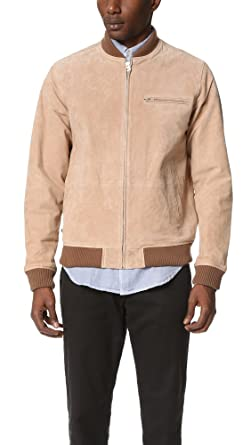 212862dba Amazon.com: Obey Men's Bunker Suede Jacket, Sand, Small: Clothing