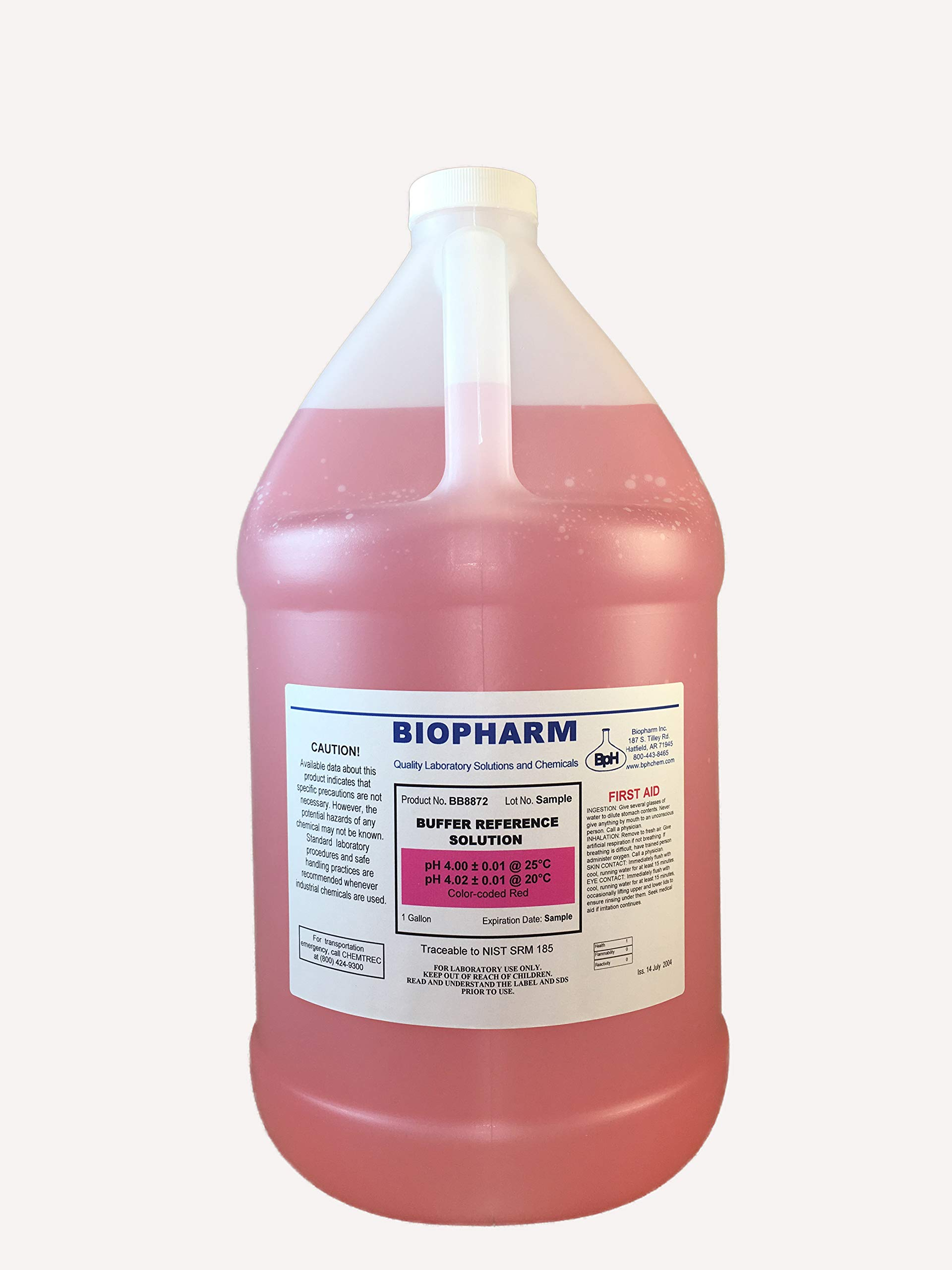 Biopharm pH Calibration Solution 1 Gallon pH 4 Buffer NIST Traceable Reference Standards for All pH Meters